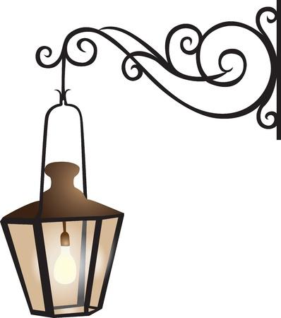 уличный фонарь: Улица фонарь иллюстрации