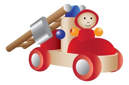 Firetruck toy illustration Illustration