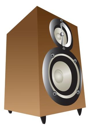 Wooden box speakers Ilustração