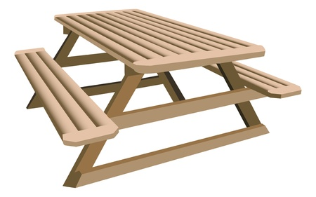picnic table: Picnic table