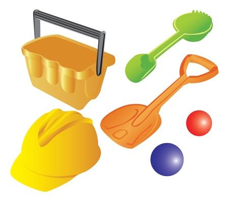 gi: Kids plastic sand toys Illustration