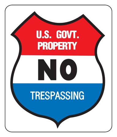 NO TREPASSING - US GOVERNMENT PROPERTY 向量圖像