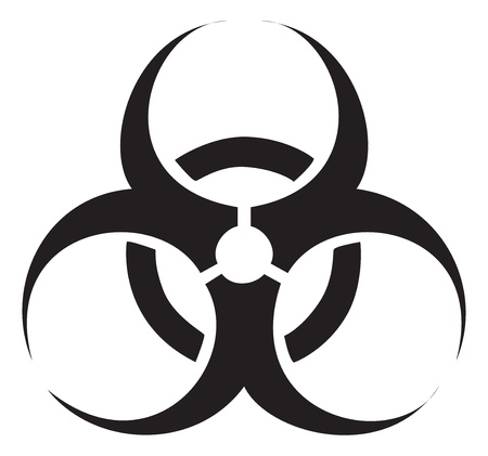 biohazard symbol: Black biohazard symbol