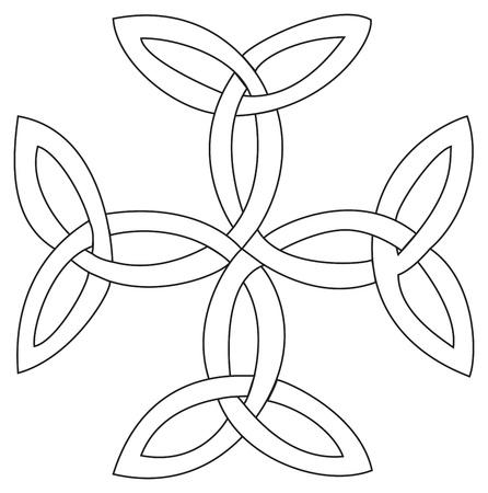 Triquetras クロス記号  イラスト・ベクター素材