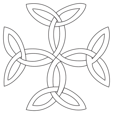 cross tattoo symbol: Triquetras cross symbol