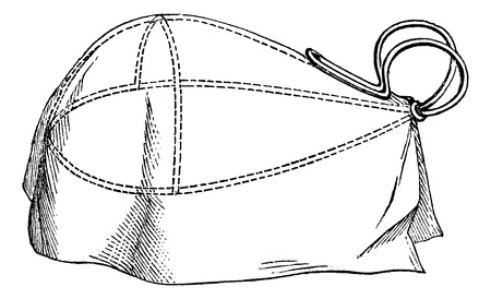 Cornet chloroform, vintage engraved illustration. Magasin Pittoresque 1875. Illusztráció