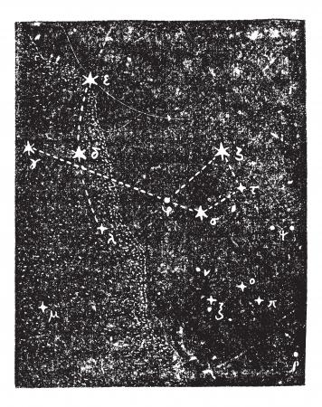 capricornus: Sagittarius (constellation), vintage engraved illustration. Dictionary of words and things - Larive and Fleury - 1895. Illustration
