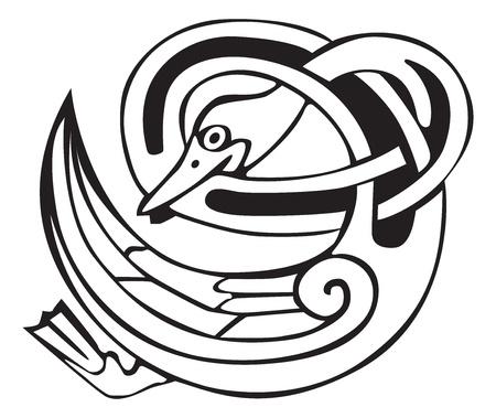 celtic design: Celtic viking duck