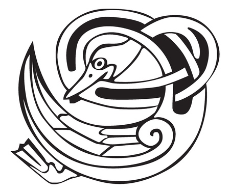 knot work: Celtic viking pato