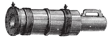 Veuglaire 흰 배경에 고립의 오래 된 새겨진 된 그림. 산업 백과 사전 E.-O. 라미? 1875 년 일러스트