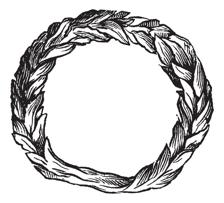 celtic background: Old engraved illustration of Celtic ring isolated on a white background. Industrial encyclopedia E.-O. Lami - 1875. Illustration