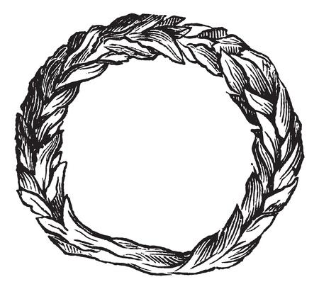 celtic symbol: Old engraved illustration of Celtic ring isolated on a white background. Industrial encyclopedia E.-O. Lami - 1875. Illustration