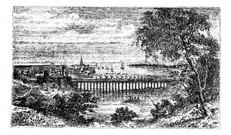 バーウィック ・ アポン ・ ツイード、イングランド、ノーサンバーランド、バーウィック町として知られている古い町、ベリック、イングランドの