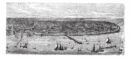 buenos aires: Buenos Aires, Stadt, Argentinien, alte gravierte Darstellung von Buenos Aires, Stadt, Argentinien, 1890.