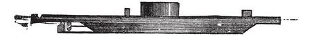 civil war: USS Monitor, vintage engraved illustration. Trousset encyclopedia (1886 - 1891).