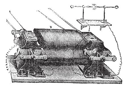electric current: Ladds Machine, vintage engraved illustration. Trousset encyclopedia (1886 - 1891).