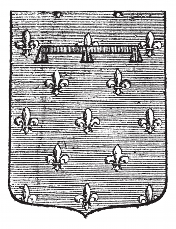 Label (heraldry) vintage engraving. Old engraved illustration of creative label. Stock Vector - 13767251
