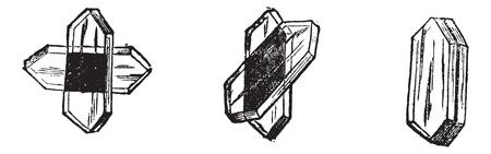 빛 광학, 빈티지 조각을 설명하기 위해 다른 장소를 토르마린. 오래 Tournmaline 새겨진 된 그림. 일러스트