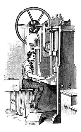 쿠키 커터 또는 비스킷 커터, 빈티지 새겨진 그림. Trousset 백과 사전 (1886-1891). 일러스트