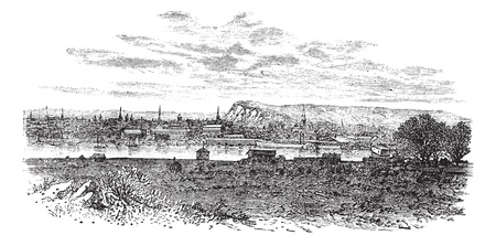 Newhaven in East Sussex, England, UK, vintage engraved illustration. Trousset encyclopedia (1886 - 1891). Vector