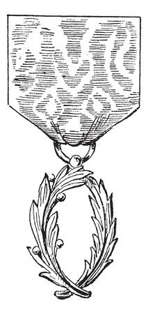 academic achievement: Academic Palms. vintage engraved illustration.  Trousset encyclopedia (1886 - 1891).