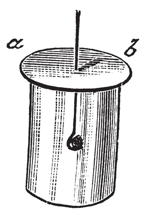 white phosphorus: Combustion of Phosphorus in a glass jar containing Oxygen gas, vintage engraved illustration. Trousset encyclopedia (1886 - 1891).
