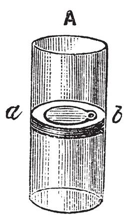 outflow: Flap Valve, vintage engraved illustration. Trousset encyclopedia (1886 - 1891). Illustration