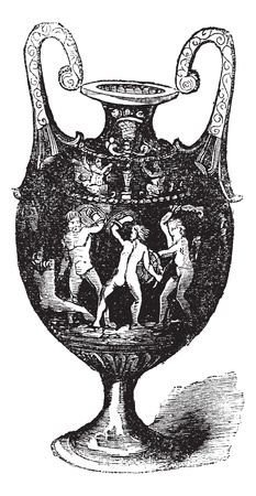 Italian majolica or maiolica, vintage engraving. Old engraved illustration of Italian majolica. Illusztráció