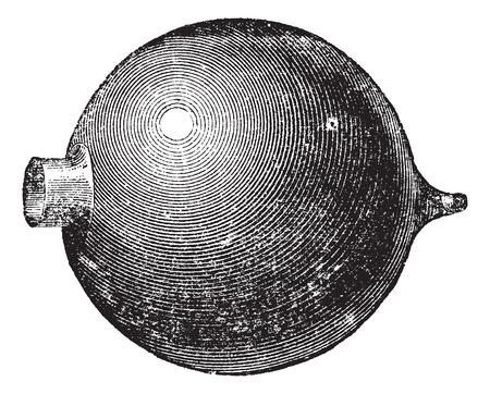 resonator: Resonator, vintage engraving. Old engraved illustration of Resonator isolated on a white background.