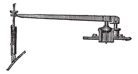 Spring-operated Relief Valve, vintage engraved illustration. Trousset encyclopedia (1886 - 1891). Vector