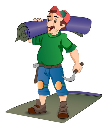 Carpet Installer, vector illustration Stock Vector - 22066352