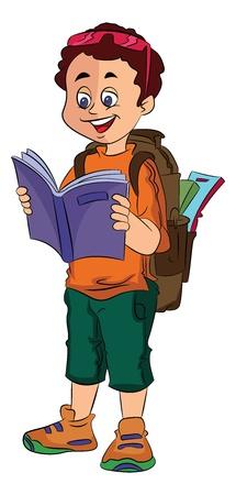 Boy Traveller, vector illustration