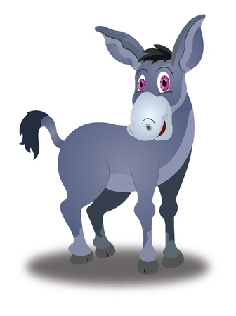 Donkey, Violet, with Pink Eyes, vector illustration Vector
