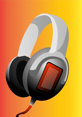 Headphones, vector illustration