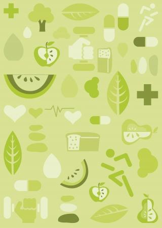 Gezondheid achtergrond, vector illustratie