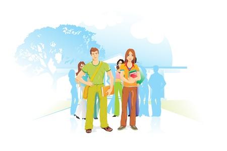 educacion ambiental: Popular para el Ambiente, ilustración vectorial Vectores