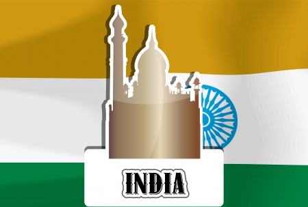 India, Indian Flag, Golden Temple, vector illustration