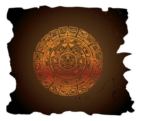 calendar: Mayan calendar, circular, vector illustration