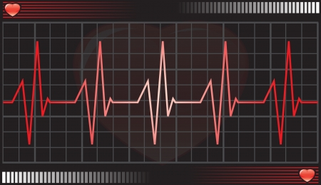 heart monitor: Heartbeat monitor, vector illustration Illustration