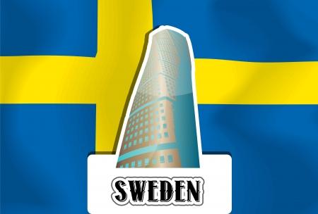 sweden flag: Sweden, Swedish Flag, vector illustration Illustration