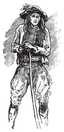 trinchante: Brittany Carver, cosecha ilustraci�n grabada. Journal des Voyages, Diario de viaje, (1879-1880).