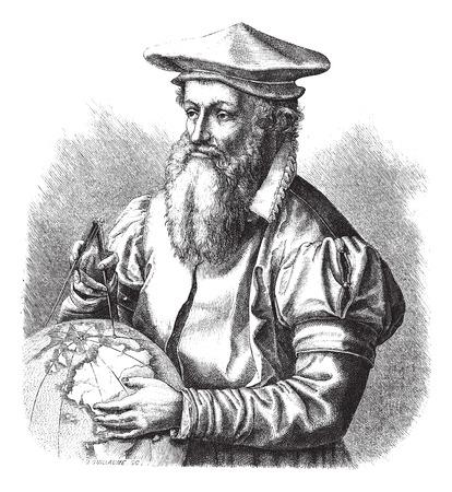 magasin pittoresque: Gerard Mercator, vintage engraved illustration. Magasin Pittoresque 1875. Illustration