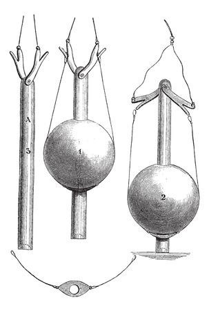 ブルック氏、米国海軍によって発明されたリード線ビンテージ図を刻まれています。マガシンドス Pittoresque 1867。