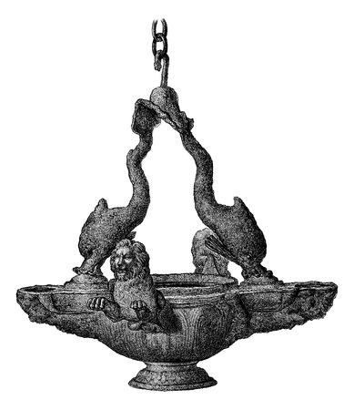 edward: Collection of Mr. Arthur Forges. - Antique Bronze. - Drawing of Edward Garnier, vintage engraved illustration. Magasin Pittoresque 1875. Illustration