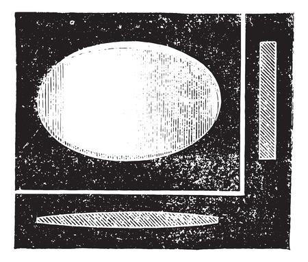refractive: Plane cylindrical lens, vintage engraved illustration. Usual Medicine Dictionary by Dr Labarthe - 1885. Illustration