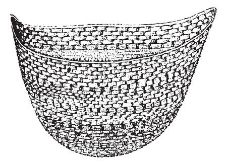 underclothing: Pocket knit jackstrap and wings, vintage engraving. Illustration