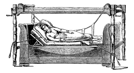 maneuver: Sleep device disease on the right side. The same maneuver in reverse can lie on the left side, vintage engraved illustration. Usual Medicine Dictionary - Paul Labarthe - 1885.