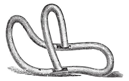 palanca: Palanca pesario, cosecha ilustraci�n grabada. Usual Diccionario Medicina - Paul Labarthe - 1885.