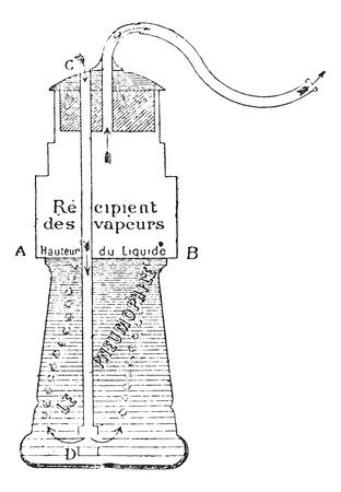 usual: Pneumophila, vintage engraved illustration. Usual Medicine Dictionary by Dr Labarthe - 1885.