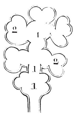 肺小葉、ヴィンテージには、図が刻まれています。博士 Labarthe - 1885年によって通常医学辞書。